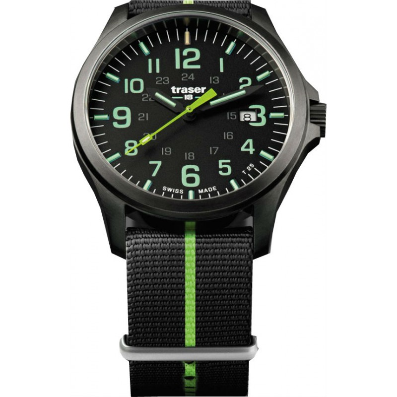 Traser P67 Officer Pro Gunmetal Black Lime 107426