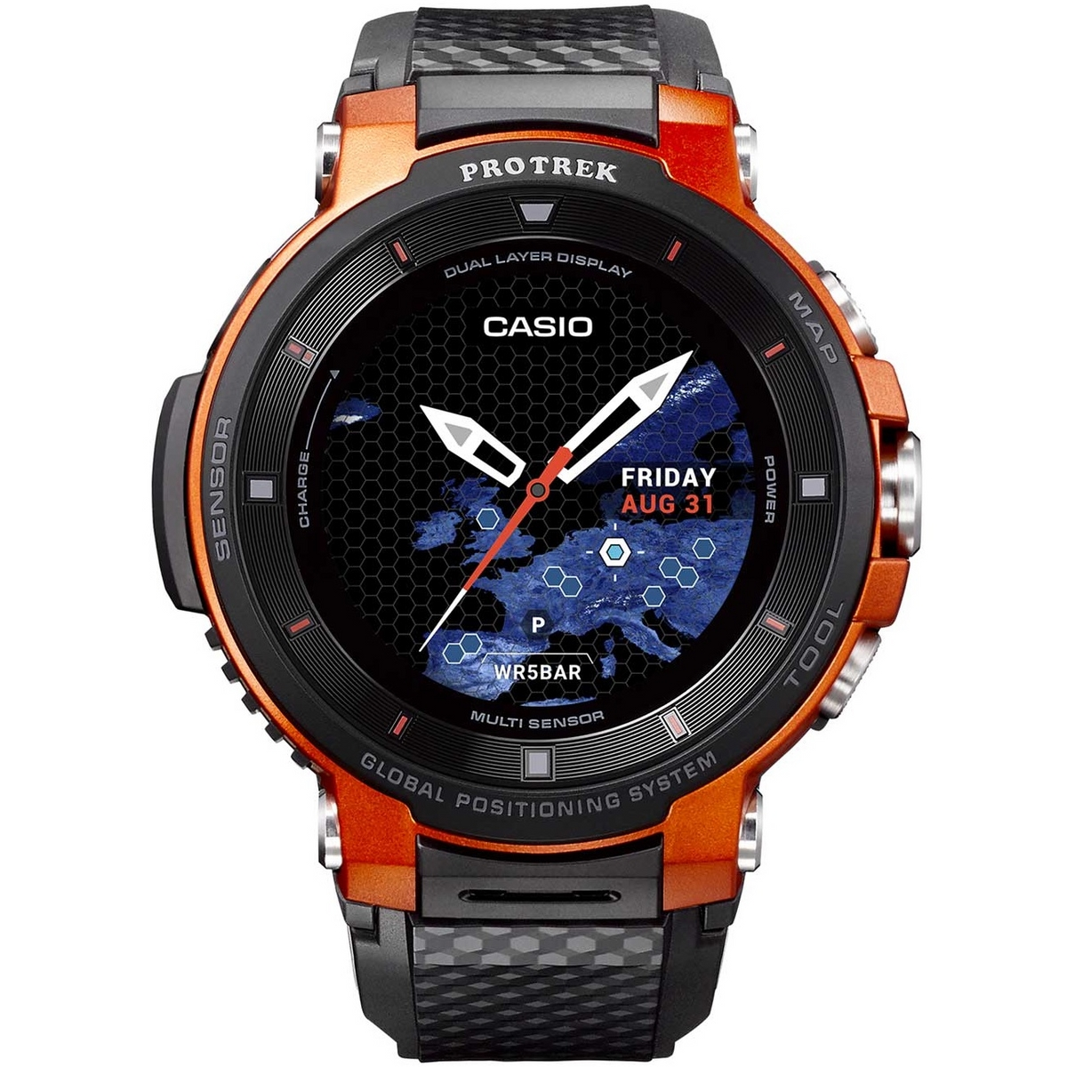 Casio Pro Trek WSD-F30-RG Outdoor GPS Smartwatch 54mm