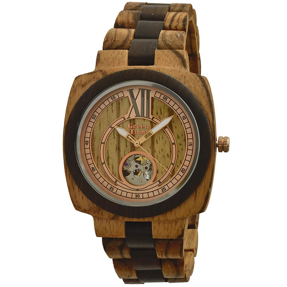 GreenTime ZW071A Automatic Houten Horloge